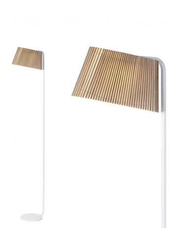 Lampadaire Led au design scandinave Owalo 7010 en bois naturel