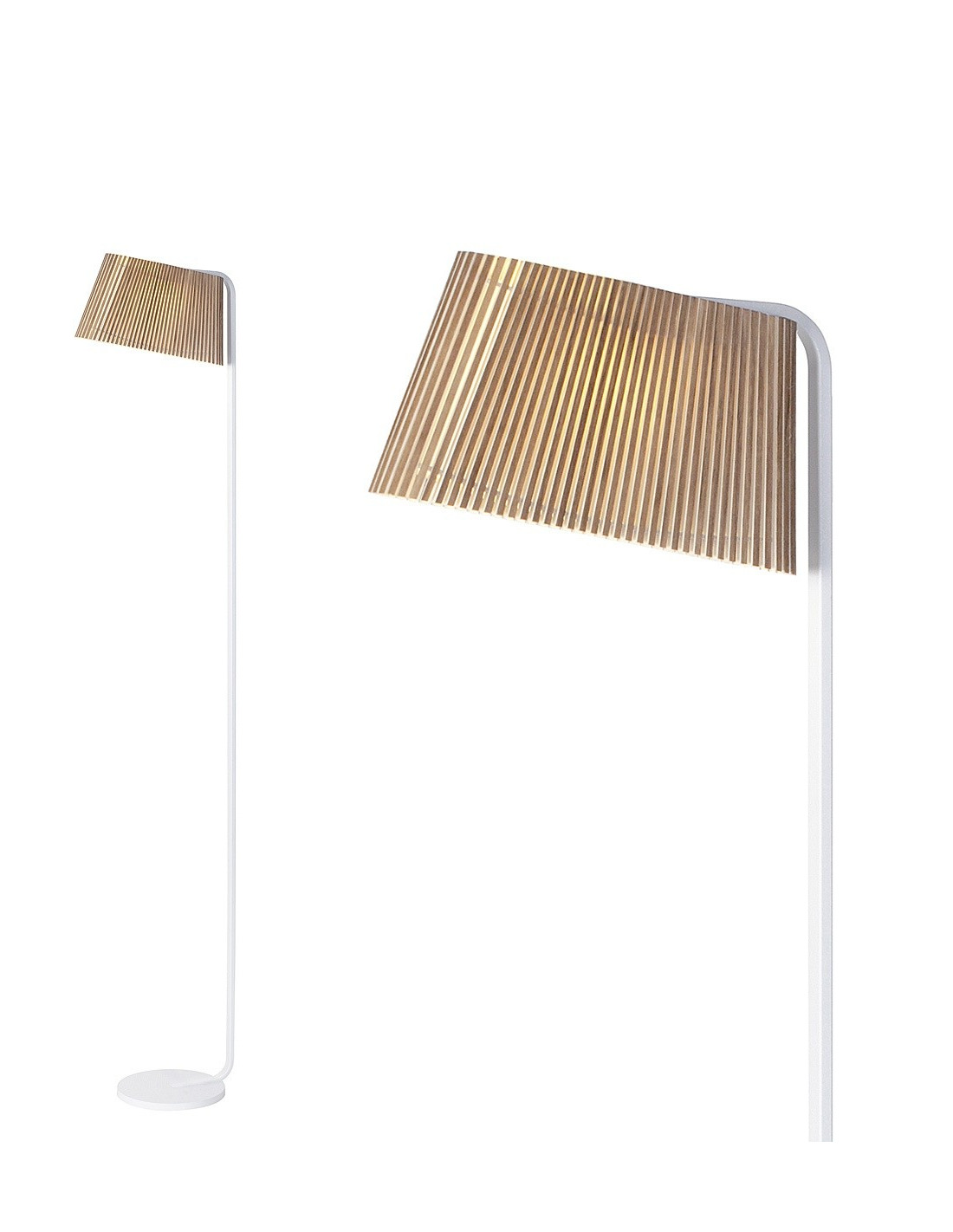 lampadaire led au design scandinave owalo 7010 en bois. Black Bedroom Furniture Sets. Home Design Ideas