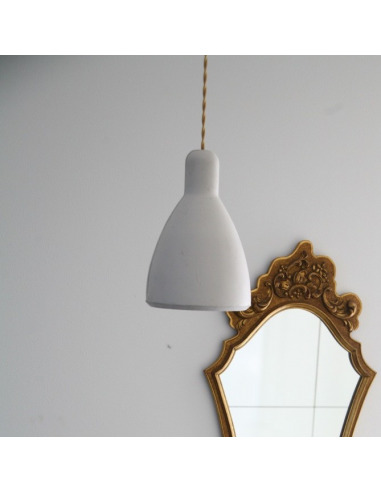 Suspension design en béton blanc Model 1 par Seenlight style industriel
