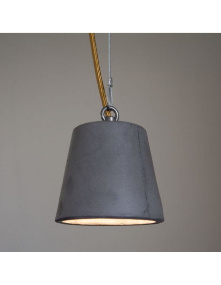 Suspension design en béton anthracite Model 2 par Seenlight style industriel