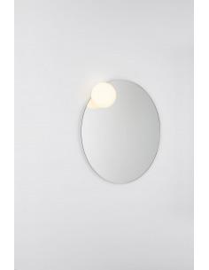 Miroir rond LED en verre et...