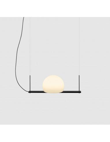 Suspension LED en verre et métal -...