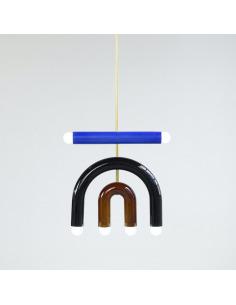Suspension TRN light D1 en céramique et laiton par Magda Jurek