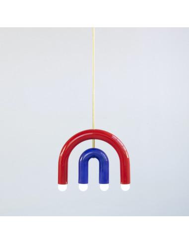 Suspension TRN light C1 en céramique et laiton par Magda Jurek