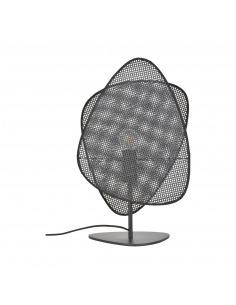 Lampe a poser Screen cannage noir 2 écrans en cannage noir par Market Set