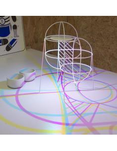 Lampe à poser artistique au design 3D CMYK Up par le Studio Dennis Parren