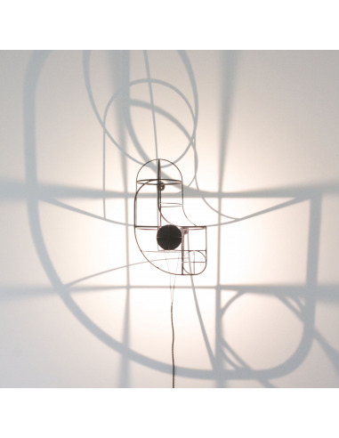 Applique murale artistique au design 3D WB wall par le Studio Dennis Parren