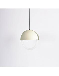 Suspension Percent en verre et acier laitonné par Hanne Willmann x Eno studio