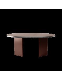 Table design Brandy 200 cm en finition argenté par Numéro111 x Eno studio