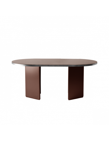 Table design Brandy 200 cm en finition argenté par Numéro111 x Eno studio