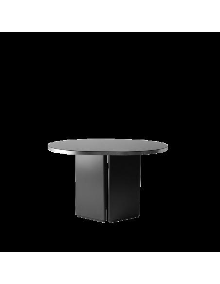 Table design Brandy 120 cm en finition argenté par Numéro111 x Eno studio