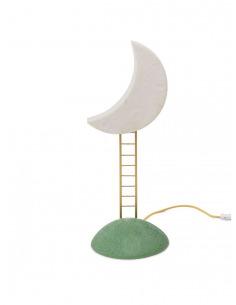 Lampe à poser My secret place en forme de lune en résine par MARCANTONIO x Seletti
