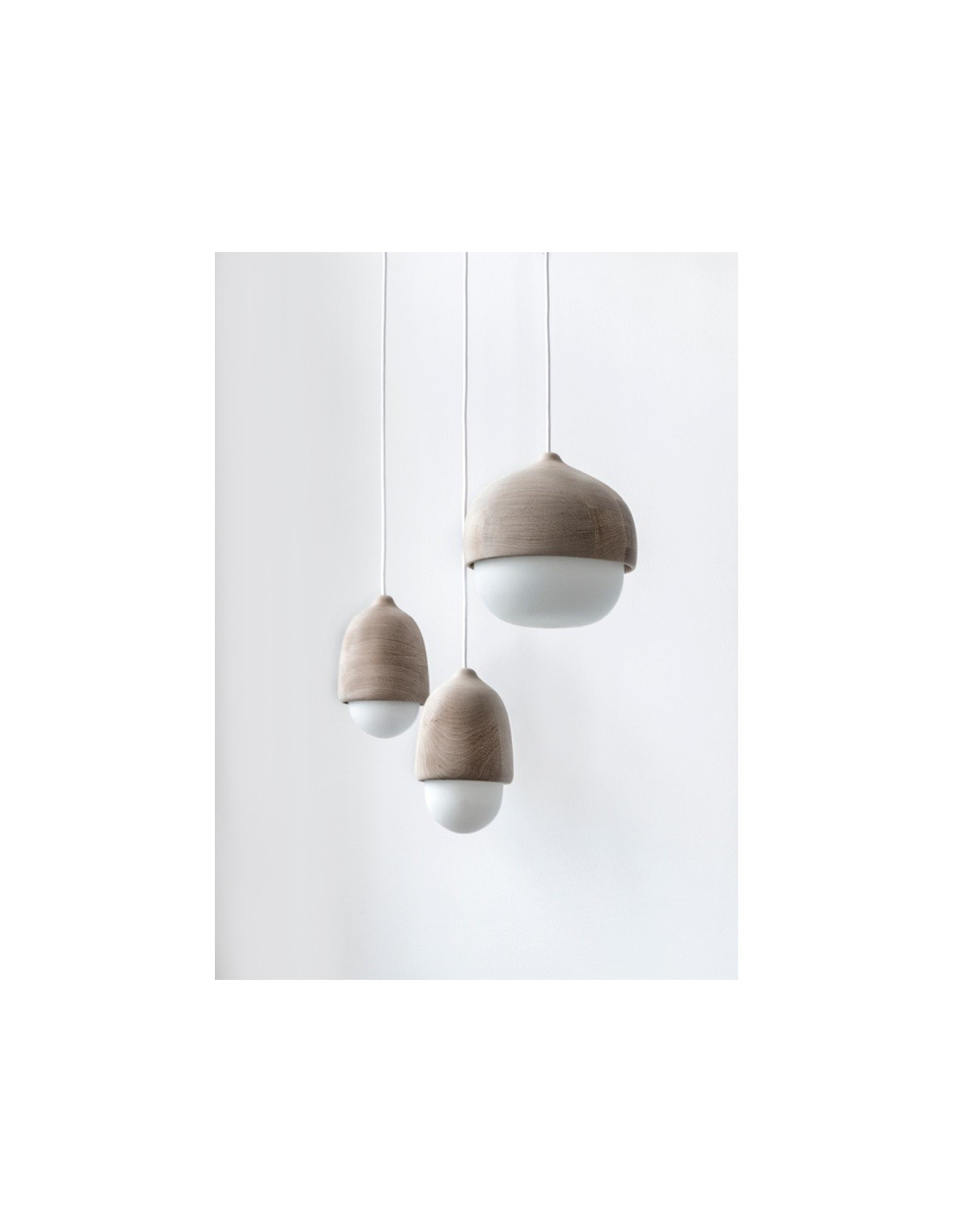 Suspension En Bois Et Verre Souffl 233 Terho Lamp M Au Design