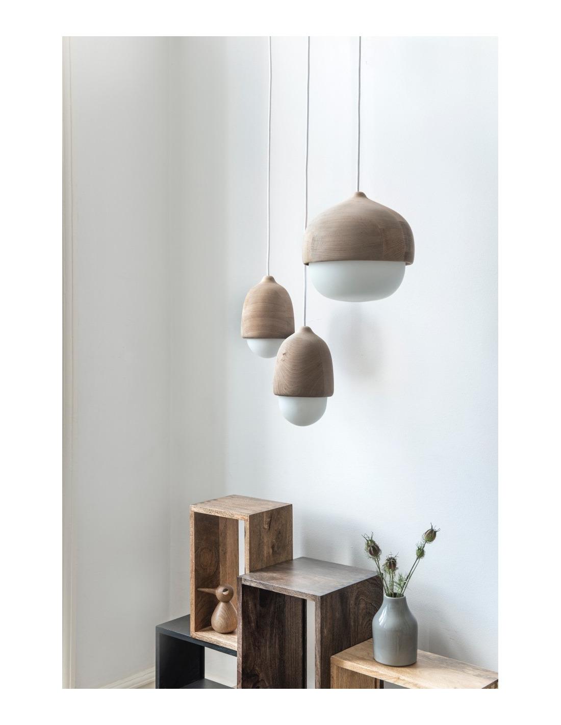suspension en bois et verre souffl terho lamp m au design scandinave otoko. Black Bedroom Furniture Sets. Home Design Ideas