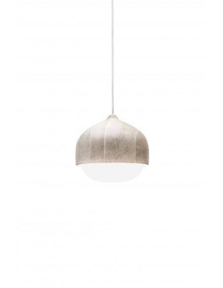 Suspension en bois et verre soufflé Terho Lamp au design scandinave