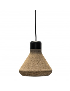 Suspension en liège naturel Luiz Lamp au design contemporain et naturel
