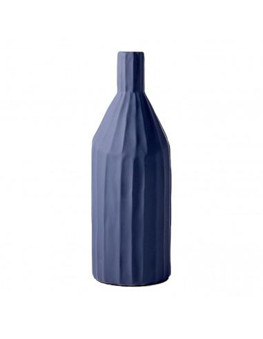 Vase Korinthos bleu en céramique au...
