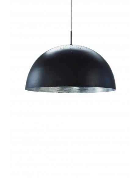 Suspension en liège noir naturel Luiz Lamp au design contemporain et naturel