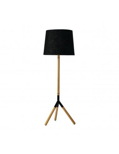 Lampadaire design Lathe Lamp en bois de chêne au design scandinave