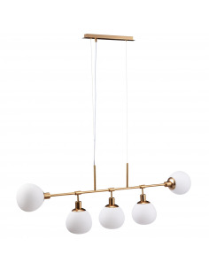 Suspension Erich 5 en métal au design vintage par Maytoni
