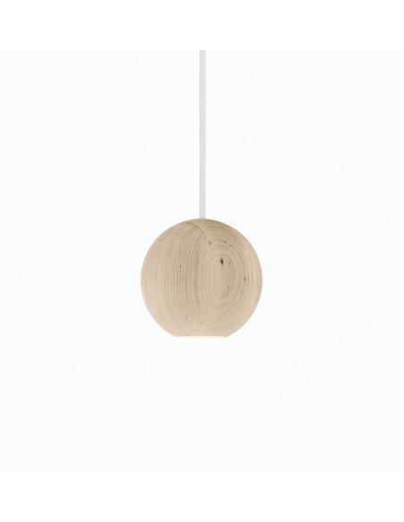 Suspension LED en bois Liuku Ball au design scandinave