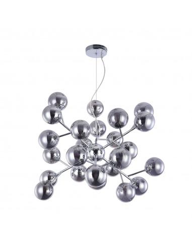 Suspension Dallas 24 en métal et verre au design futuriste par Maytoni