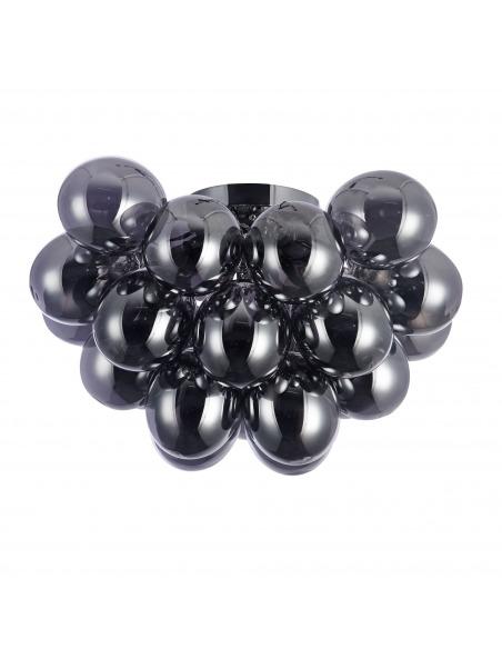Plafonnier Balbo 8 en métal et verre au design contemporain par Maytoni