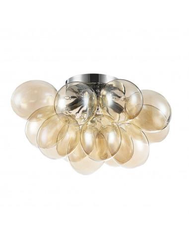 Plafonnier Balbo 4 en métal et verre au design contemporain par Maytoni