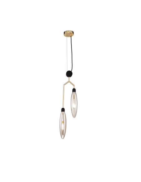 Suspension double Ventura en métal au design contemporain par Maytoni