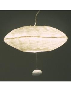 Suspension éco-design Giboulée en papier japonais par Celine Wright