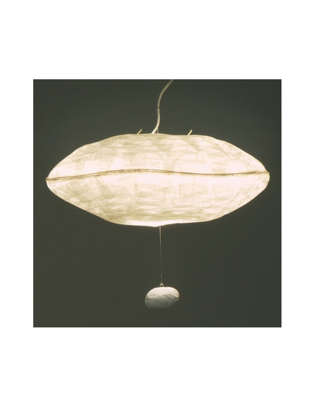 Suspension co design giboul e en papier japonais par for Suspension luminaire papier