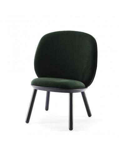 Fauteuil Naïve Low Chair en velour au...