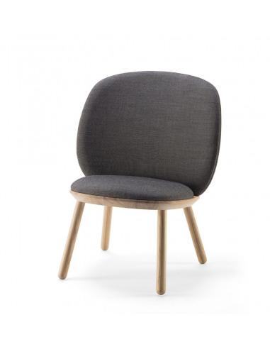 Fauteuil Naïve Low Chair en Tissu laine Kvadrat™ au design scandinave par etc.etc. x Emko