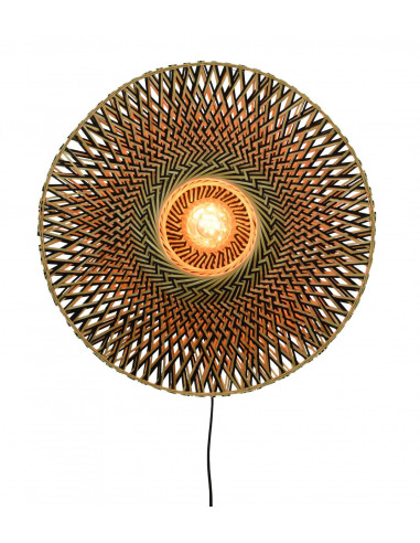 Applique Bali Ø60 cm en Bambou naturel au design naturel par Good & Mojo
