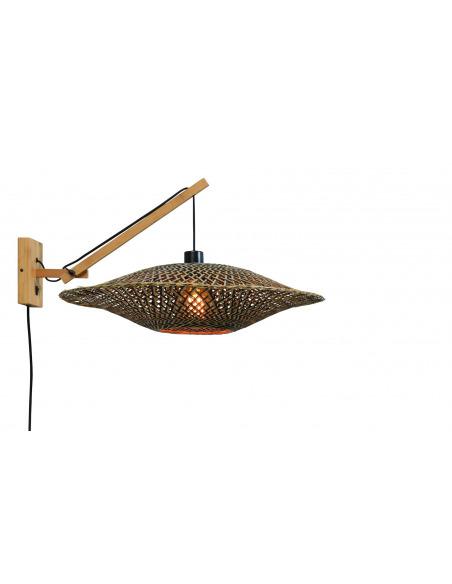 Applique déportée Bali avec abat-jour Ø 60 cm en Bambou naturel au design naturel par Good & Mojo