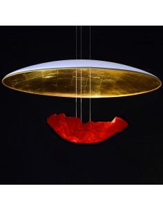 Suspension éco-design Eclaircie en papier japonais par Celine Wright