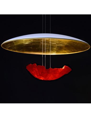 suspension co design eclaircie rouge en papier japonais par c line wright. Black Bedroom Furniture Sets. Home Design Ideas