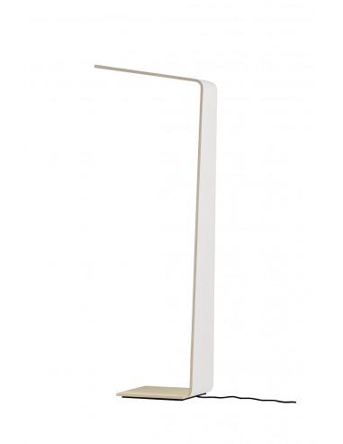 Lampadaire tactile en bois Led 2 Couleur au design scandinave et minimaliste
