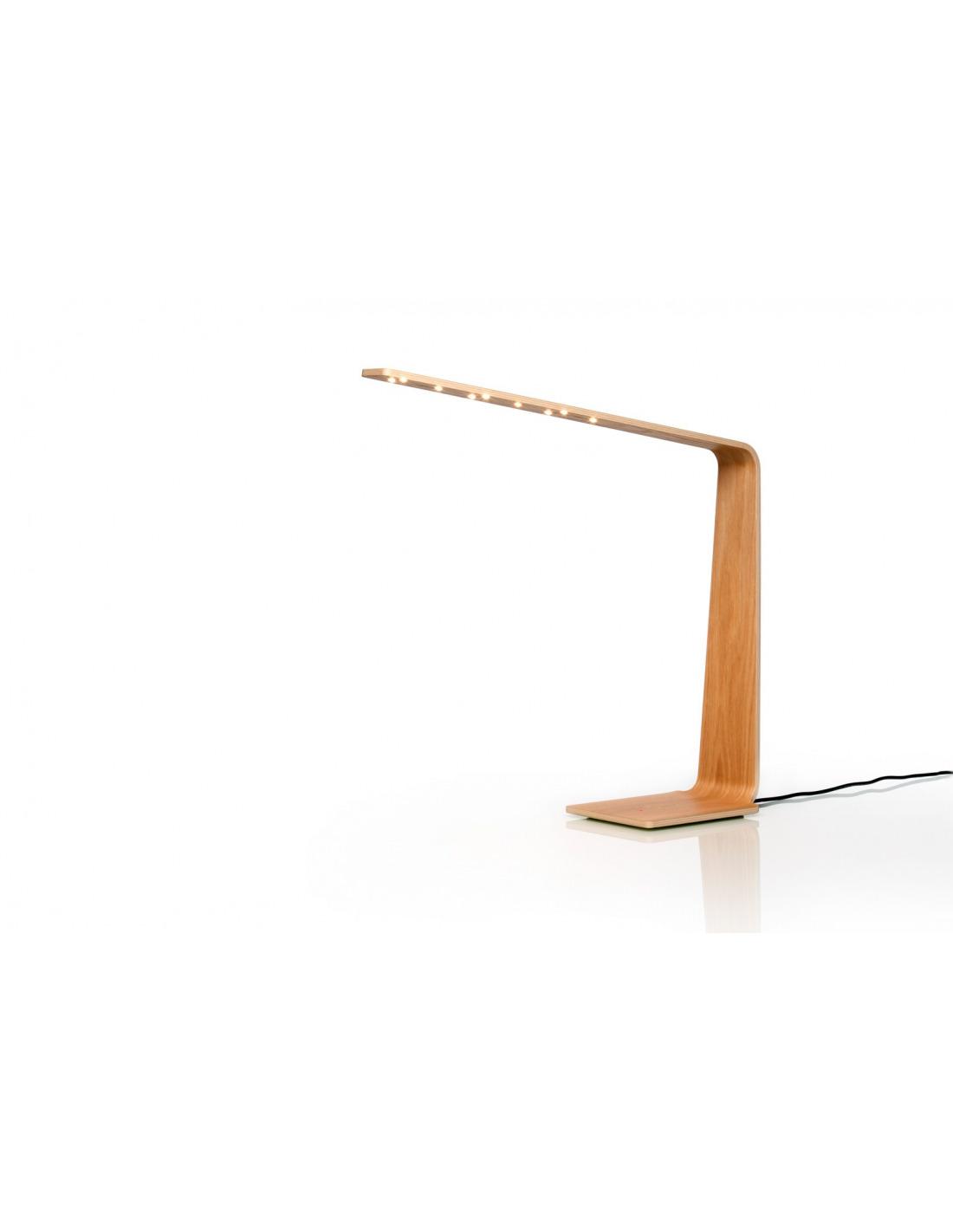 lampe poser tactile en bois led 4 au design scandinave. Black Bedroom Furniture Sets. Home Design Ideas