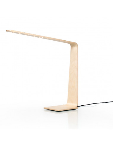 lampe poser tactile en bois led 4 au design scandinave. Black Bedroom Furniture Sets. Home Design Ideas