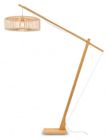 Lampadaire Bromo XL avec abat-jour en Bambou naturel au design naturel par Good & Mojo