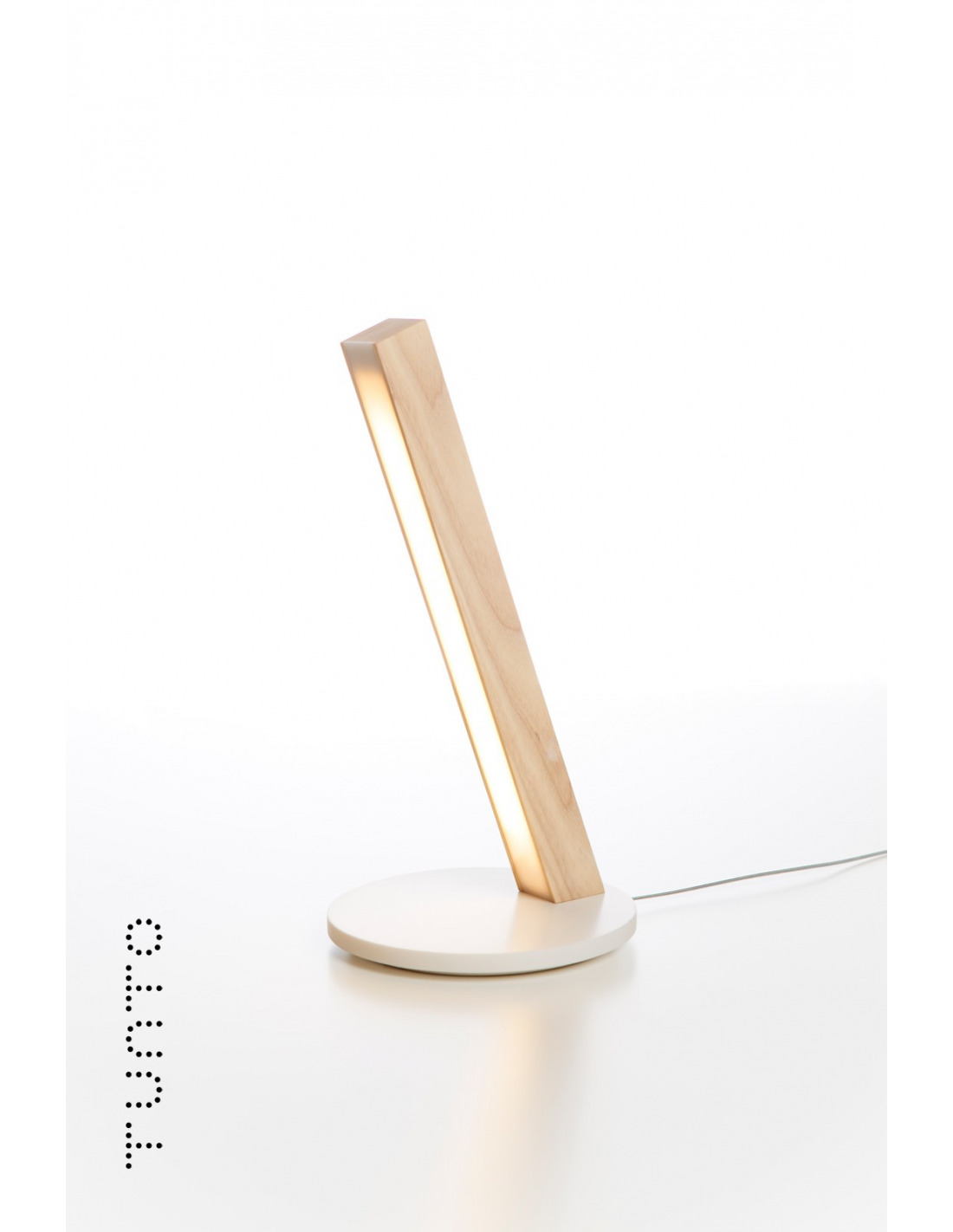 Lampe poser tactile en bois led 40 au design scandinave for Lampe a poser bois