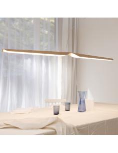 Suspension design en bois Led Swan au design scandinave et minimaliste