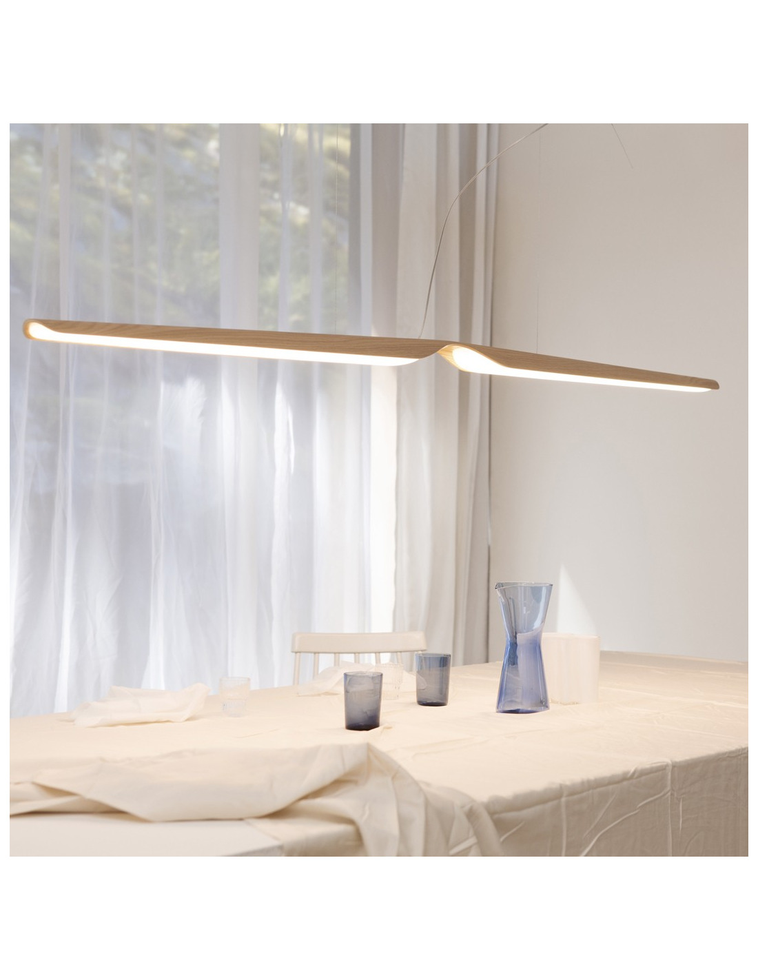 Suspension Design En Bois Led Swan Au Design Scandinave Et Minimaliste Otoko