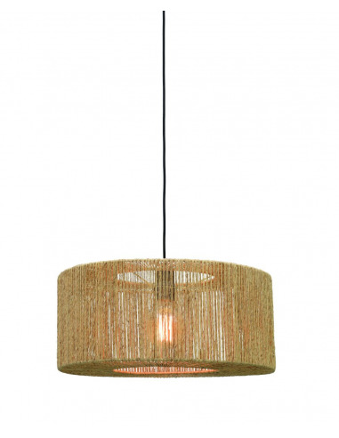 Suspension Iguazu 2 en jute au design naturel par Good & Mojo