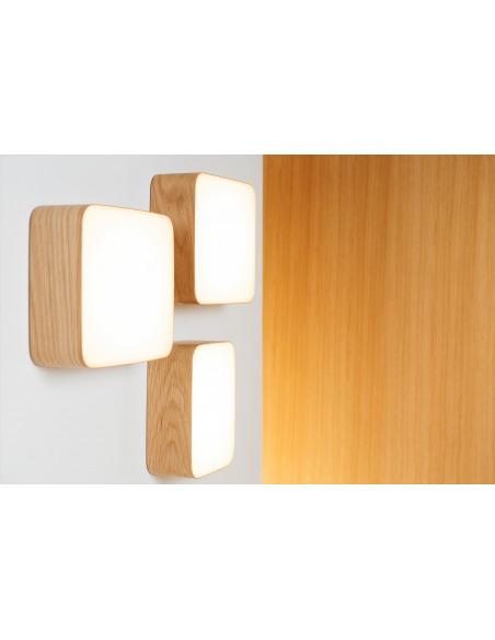 Applique murale en bois Led Cube au design scandinave et minimaliste