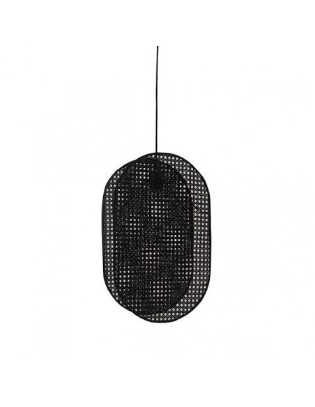 Suspension Coimbra XL en cannage noir au design naturel par Pavao Studio