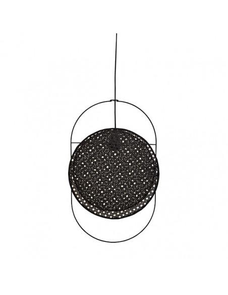 Suspension Coimbra en cannage noir au design naturel par Pavao Studio