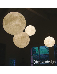 Suspension lune au design original et moderne Luna en Nebulite