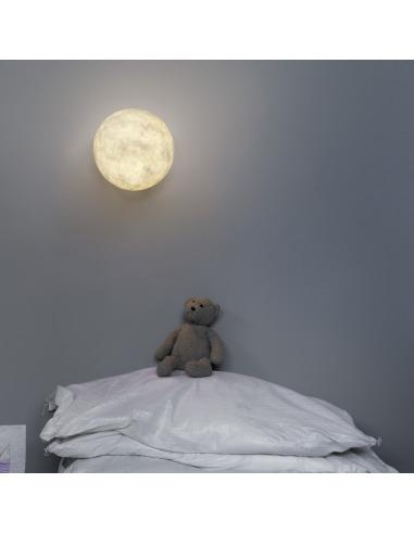 Lampe à poser petite lune au design original et moderne T-moon en Nebulite